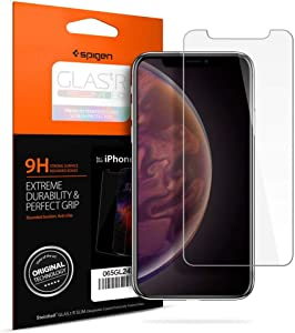 Spigen - Glas.Tr Glass Screen Protector for Apple iPhone Xs Max - Clear