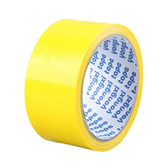 SUPVOX Waterproof Duct Tape Gaffer Tape Colored Duct Tape Painters Tape Strong Adhesive Tape DIY Cloth Stage Carpet Floor Tape Yellow