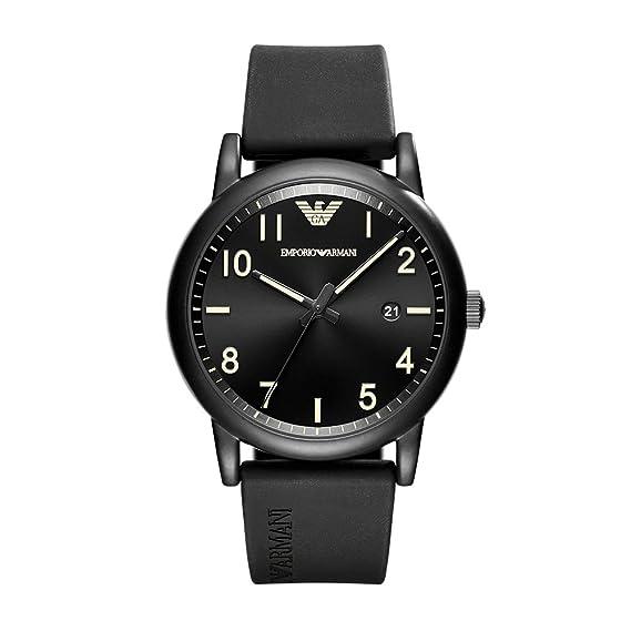 332d8aac2a833 emporio armani de los hombres  Sport de reloj Casual de cuarzo, Acero  inoxidable y