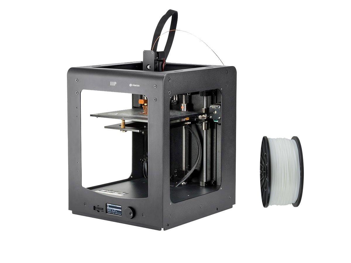 Monoprice Maker Select Ultimate 3D Printer with Premium 3D Printer Filament PLA 1.75MM 1kg, 1 Spool Bundle (White)