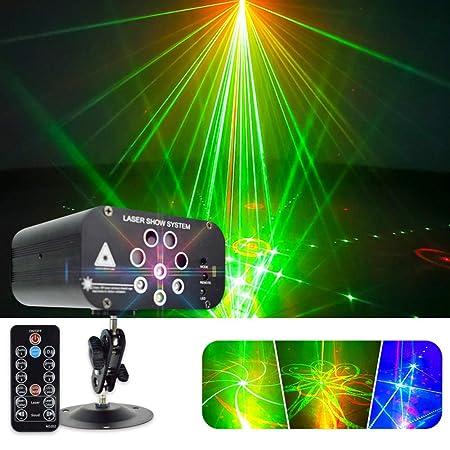 SZ&LAM Luz del Disco De DJ Luces del Partido 128 Patrones del ...