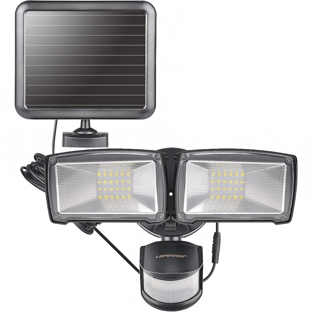 LEPOWER Solar Lights, 950LM Outdoor Motion Sensor Security Light, 5500K, IP65 Waterproof, Adjustable Head Flood Light with 2 Modes Automatic and Permanent on, for Entryways, Patio, Yard, Garage