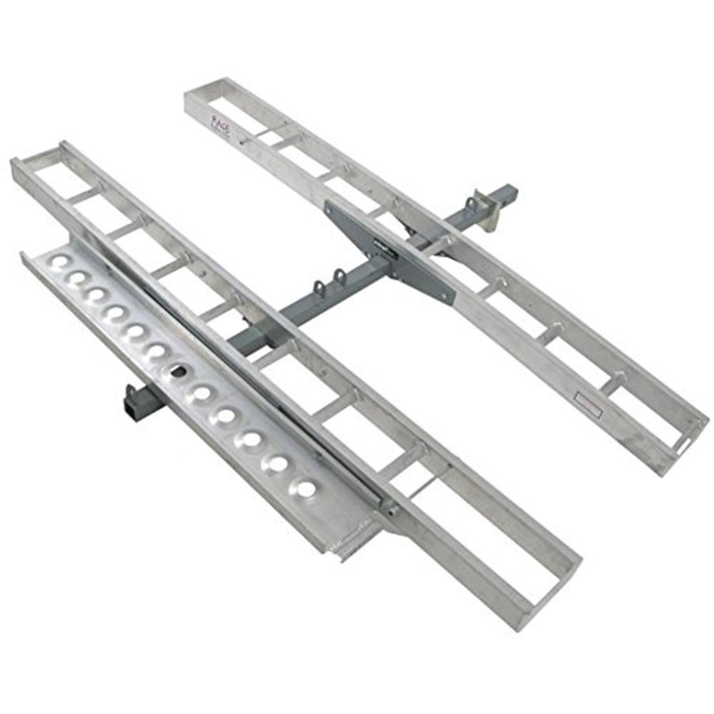 Double Motorcycle or Dirt Bike Carrier 600 lb Capacity Aluminum 75'' Track Length Each