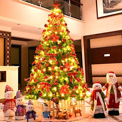 DULPLAY Decoración Árbol de Navidad Artificial, con Luces led Árbol de Fibra óptica Abeto Abeto de Premium con bisagras...