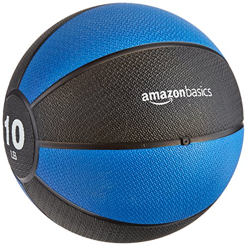 AmazonBasics Workout Fitness Exercise Weighted Medicine Ball