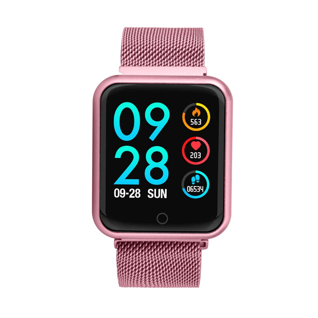 Letdown Smart Watch for Women Smart Camera Control Sports Fitness Tracker Heart Rate Blood Pressure Calories Waterproof Lightweight Versatile Smart Wrist Watch (Pink) by Letdown