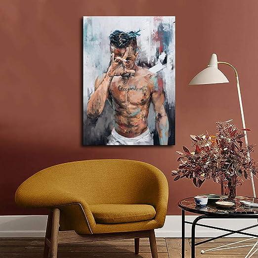Encadr/é Xxxtentacion Poster sur toile et d/écoration murale moderne pour chambre /à coucher 12x16inch