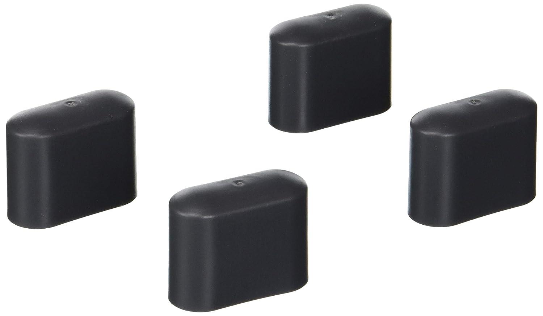 Greemotion Fußkappen für Stapelsessel, bank oder -hocker Toulouse grau, 4-tlg, Ersatzkappen aus hochwertigem Kunststoff, gegen Verrutschen und Verkratzen, Artikelmaße innen ca. 4,4 x 3,4 x 1,8 cm (B x H x T) 499512