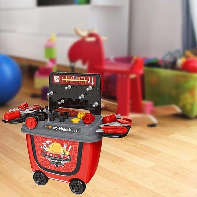 barbacoa juguete BBQ Ice Cream Cart Play Set Juego de estuches de barbacoa para niños pequeños, el mejor regalo de juguete de Christams para niños y niñas: ...