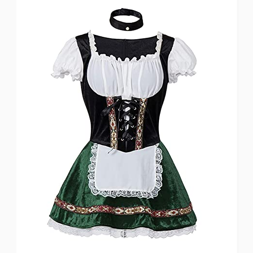 MBEN Disfraz de Oktoberfest para Mujer Cerveza bávara Vestido de ...