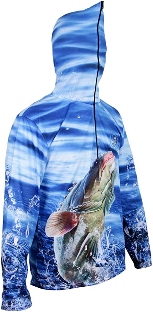MagiDeal Camisa con Capucha Sudadera Protección Solar Secado Rápido Pesca Casual - Azul, XXXL: Amazon.es: Ropa y accesorios