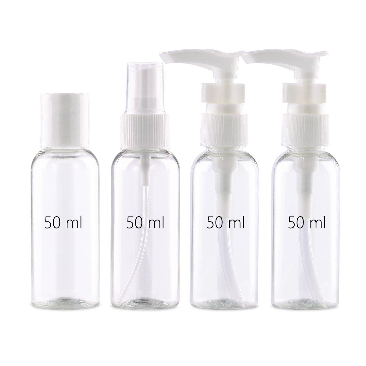 af52691990fc TSA Approved Plastic Travel Bottles Empty Set (12pcs) Toiletries & Cosmetic  Travel Size Leak Proof...
