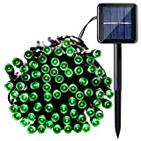 Qedertek Solar String Lights, 40ft 100 LED Waterproof Outdoor Decoration Lighting for Indoor/Outdoor, Patio, Lawn, Garden, Christmas, and Holiday Festivals (Green)