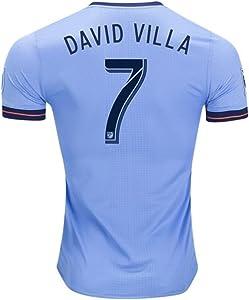 adidas NYCFC 2018 Home Jersey David Villa #7 Size Youth Large