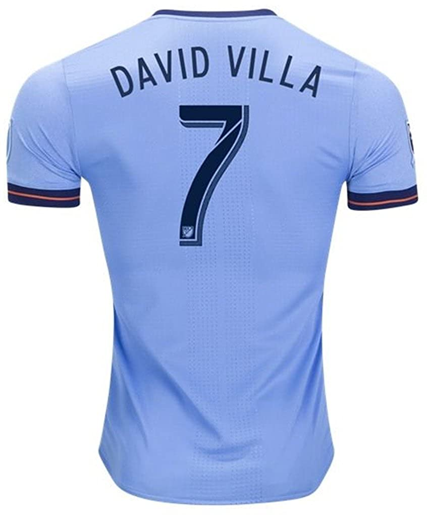 new products 32d55 1f683 Adidas NYCFC 2018 Official Home Soccer Jersey David Villa #7