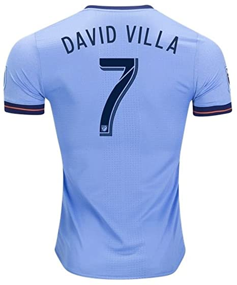 14ee2d7ca Amazon.com: Adidas NYCFC 2018 Official Home Soccer Jersey David Villa #7:  Clothing