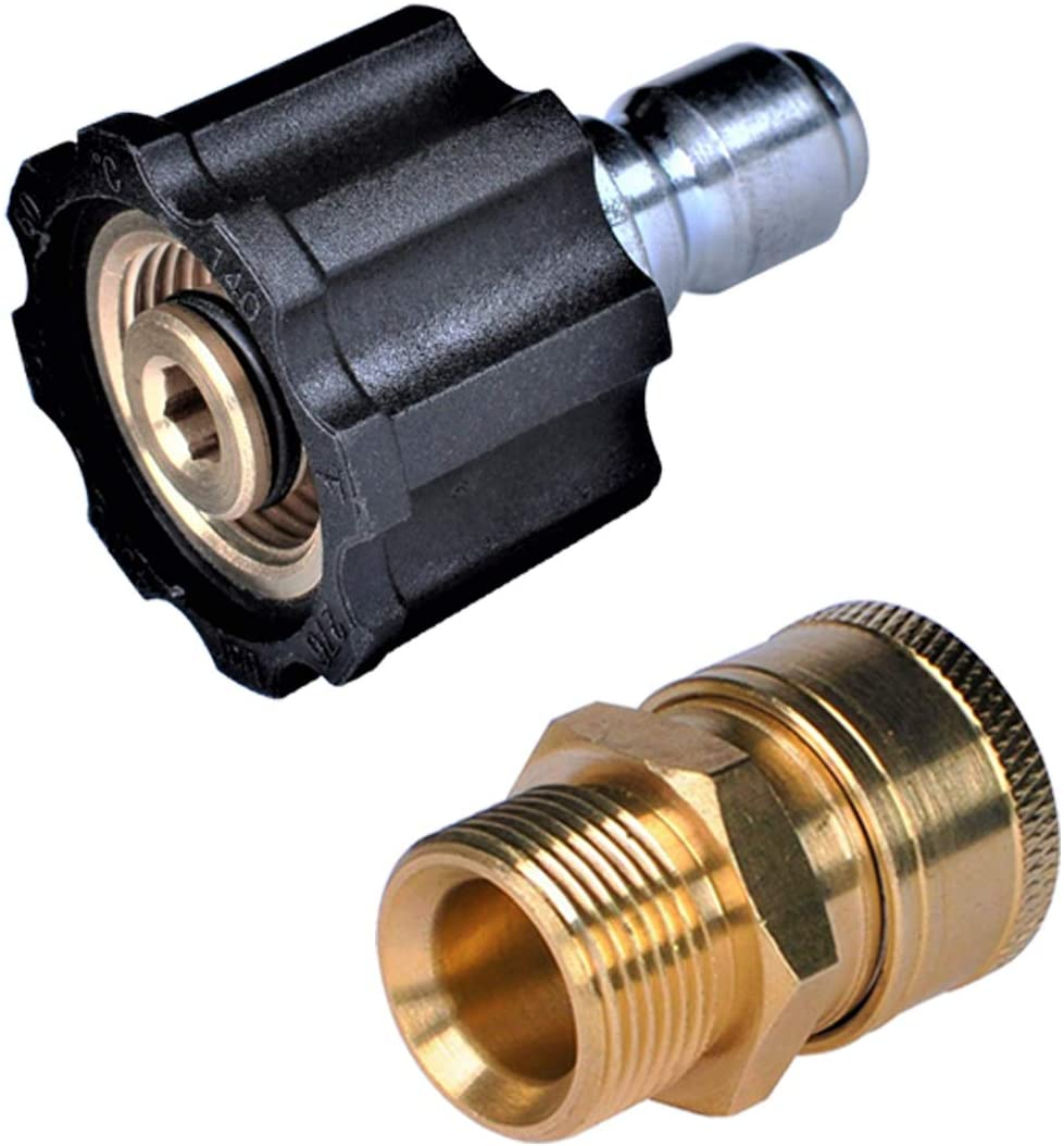M22 14mm Brass Pressure Washer Swivel Joint Connector Hose Adapter Fitting Parts