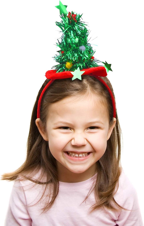 4 Styles Rot Elcoho Weihnachten Stirnb/änder Elf Party H/üte Weihnachtsbaum Stirnband Weihnachten Schleife Stirnband f/ür Urlaub Dekoration