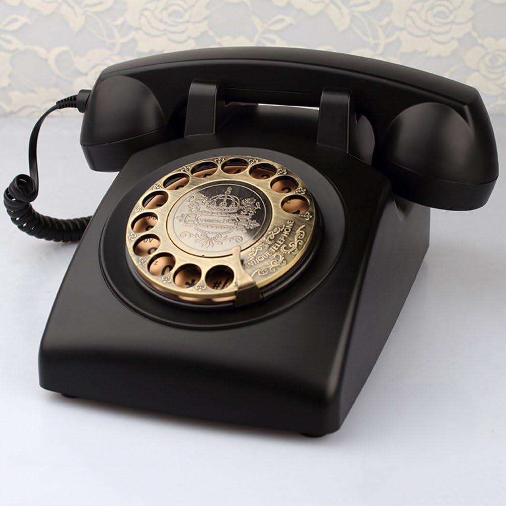 Teléfono Antiguo Teléfono Retro de la Manera Teléfono Fijo Continental Teléfono inalámbrico de la Tarjeta Estilo Europeo rotatorio Fijo,E: Amazon.es: Electrónica