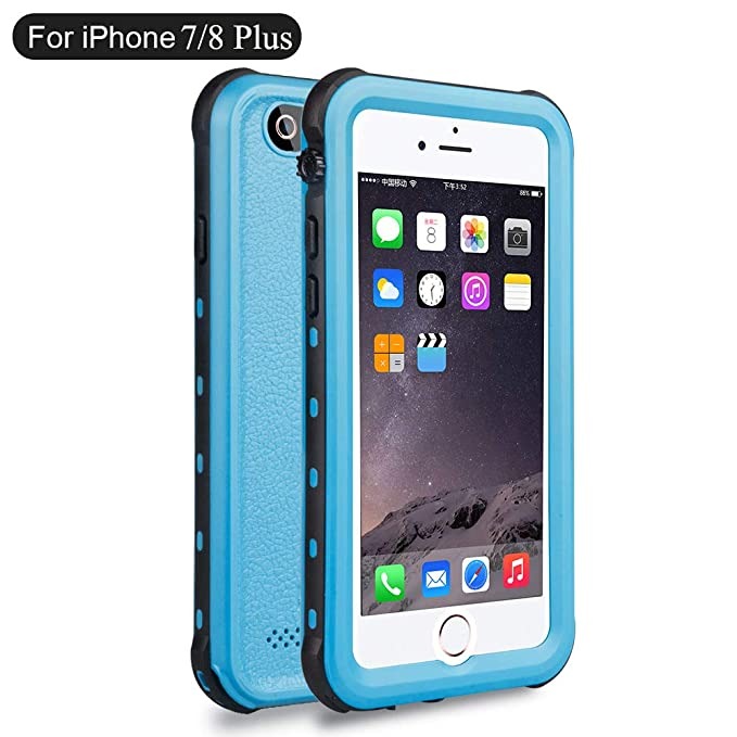 buy popular e083c 664ae iPhone 8 Plus Waterproof Case, iPhone 7 Plus Waterproof Case, Dooge IP68  Certified Shockproof Dirtproof Snowproof Rain Proof Heavy Duty Rugged Full  ...