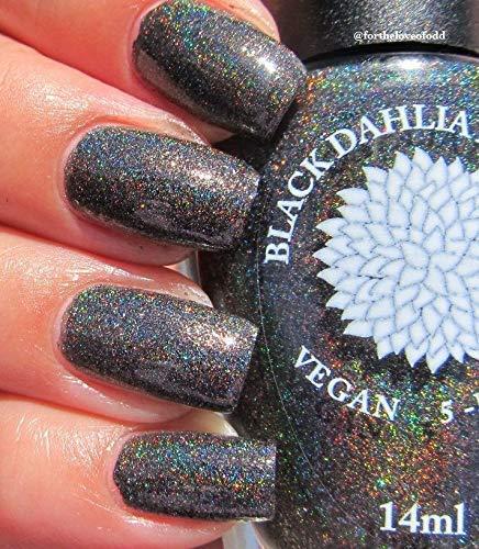 Black Magic | Black Holo Nail Polish with Red, Silver & Black Micro Glitter | by Black Dahlia Lacquer]()