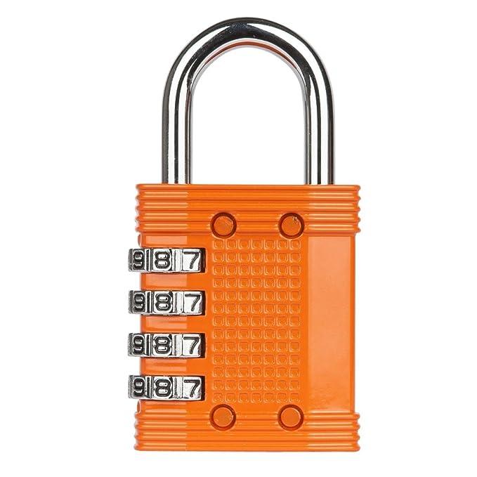 Candado Fortlocks – Candado De Combinación De 4 Dígitos Para Casilleros, Ventanas, Estuches Y Cobertizos, Resistente, Combinación Reajustable, ...