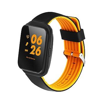 Kobwa MTK2502 - Reloj inteligente Bluetooth 4.0 con monitor de frecuencia cardíaca, monitoreo de presión