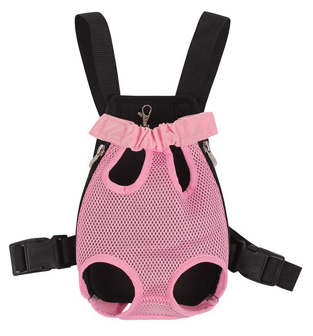 Greenery Fresh Breathable Mesh Durable Polyester Button Closure Pet Puppy Dog Cat Small Animals Outdoor Travel Carrier Backpack Front Chest Bag Shoulder Handbag Pet Holder