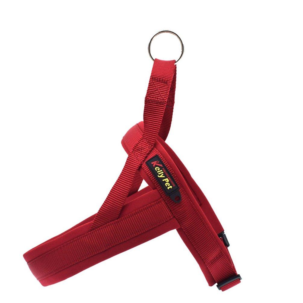 Yuncai Regolabile Accogliente Imbracatura Fascia Toracica Durevole Guinzaglio per Animale Domestico Cane Arancione1 XS
