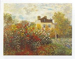 Buyartforless The Artist's Garden by Claude Monet 9.5x12 Art Print Poster
