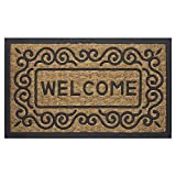 Achim Home Furnishings COM1830SC6 Scrolls Coco Door Mat, 18 by 30''