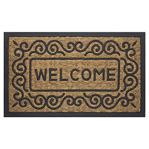 Achim Home Furnishings COM1830SC6 Scrolls Coco Door Mat, 18 by 30