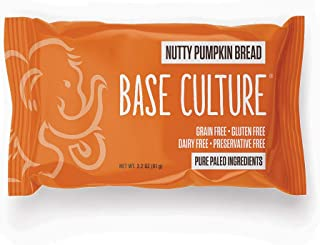 product image for Paleo Bread, Nutty Pumpkin, Snack Size, 100% Gluten Free Bread and Paleo Certified, Crafted by Base Culture (12 Count)