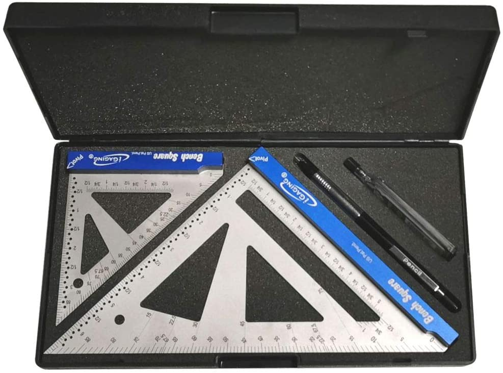 iGaging Bench Square Set 4 and 7 Stainless Steel w// 16th and 32nd scale Stainless Steel