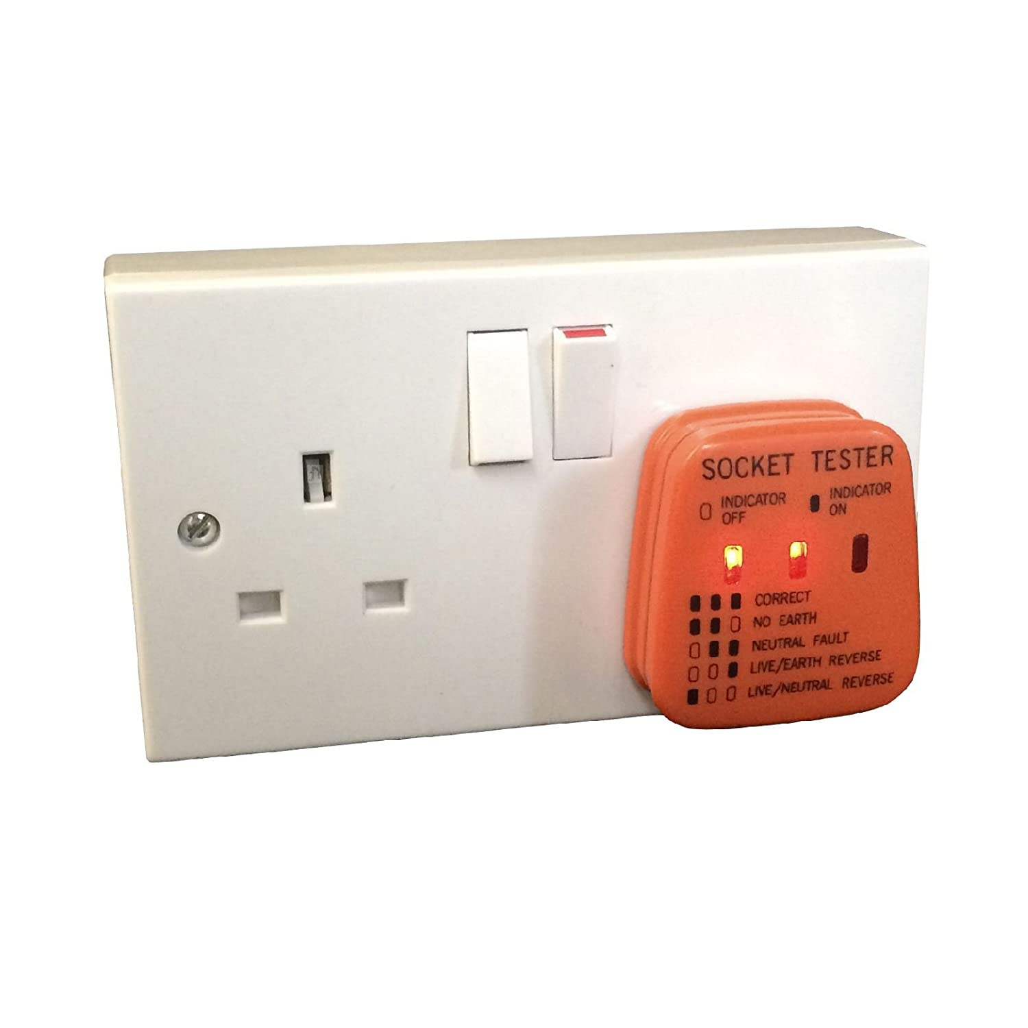 Uk Mains Socket Tester 240v Polarity Test 3 Pin Plug House Wiring A Earth Electrical Diy Tools