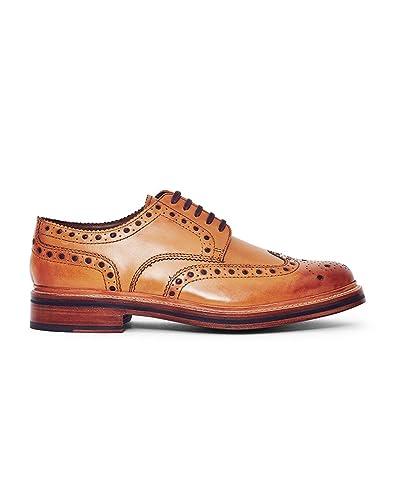 Grenson Archie Brogue Rubber Sole Tan Mens Shoe Tan UK8 EU42 US9 p6ynkI
