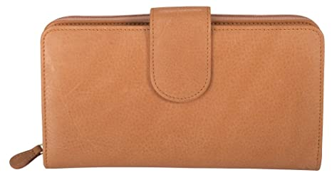 8534db03cd Coupon Organizer Wallet - Leather - Checkbook, Credit Cards, Cash, Coins &  Coupons all in one place! (Tan)