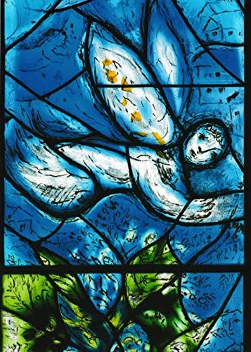 Marc Chagall Abraham und die drei Engel Postkarte