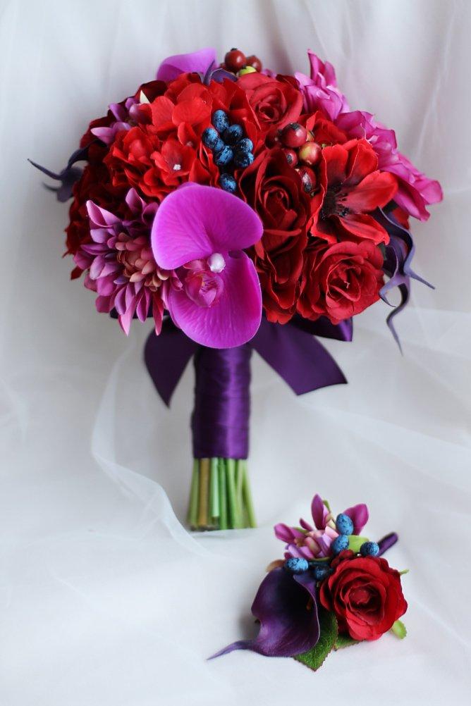 IFFO Fashion bridal bouquet of red calla lilies, wedding bouquet, handmade (Bridal bouquet) by IFFO