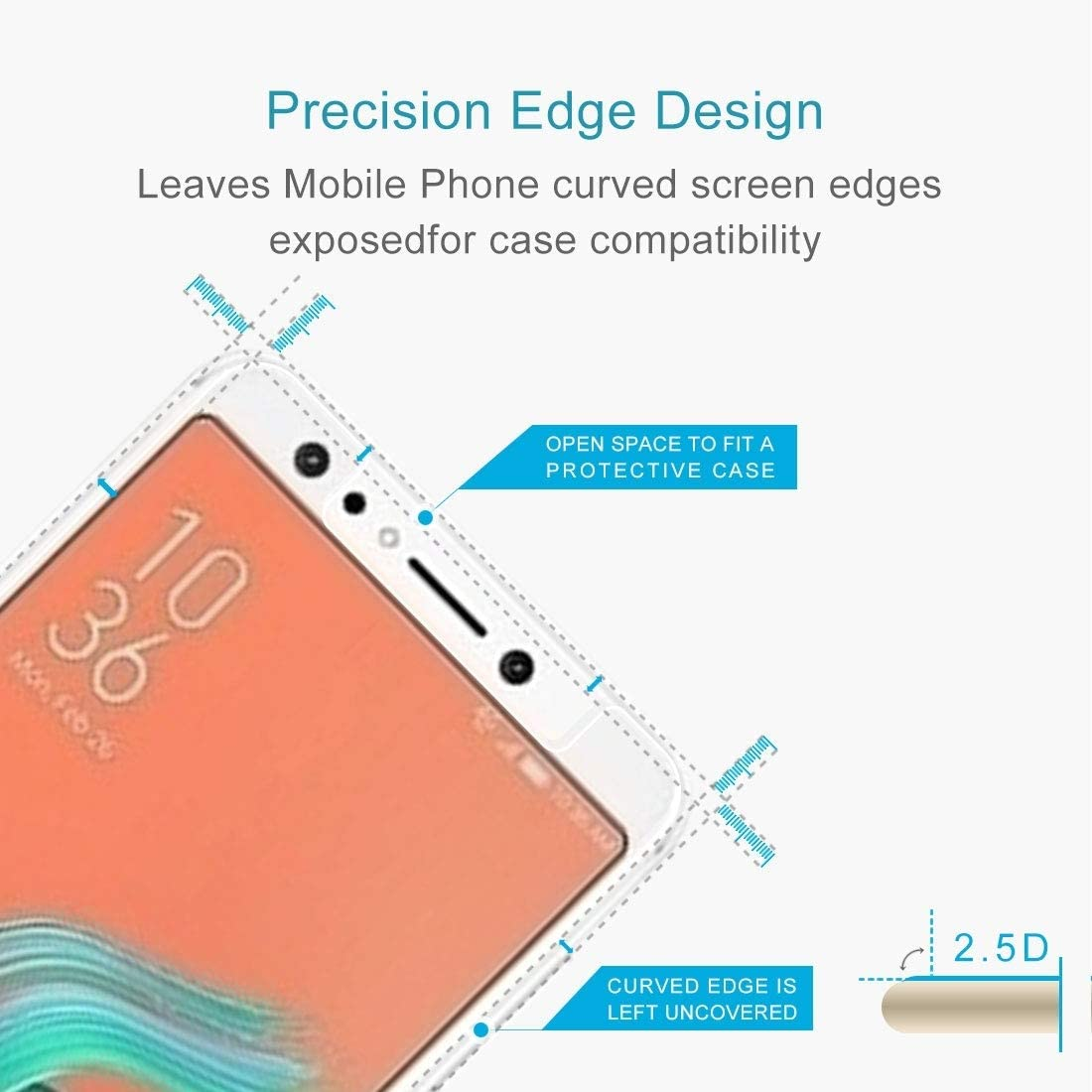 LGYD for 50 PCS for Asus Zenfone 5 Lite ZC600KL 0.26mm 9H Surface Hardness 2.5D Explosion-Proof Tempered Glass Screen Film No Retail Package
