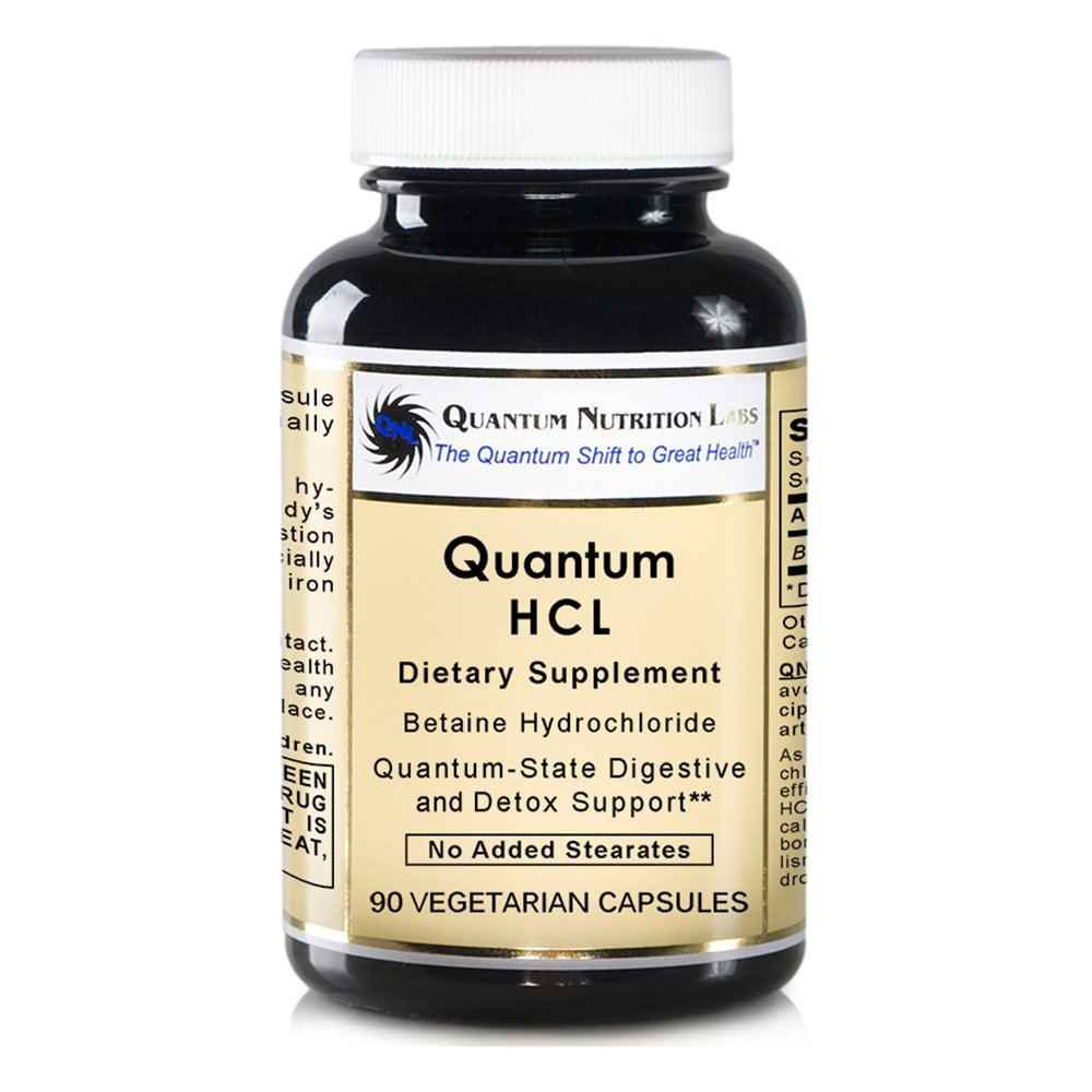 Quantum HCL, Vegan product, 90 Capsules (Betaine Hydrochloride Acid Caps) for Quantum-State Digestive and Detoxification Support