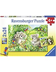 Ravensburger 07820, Sweet Koalas and Pandas 2 x 24 Piece Puzzles in a Box, 2 x 24 Piece Puzzles for Kids, Every Piece is Unique, Pieces Fit Together Perfectly