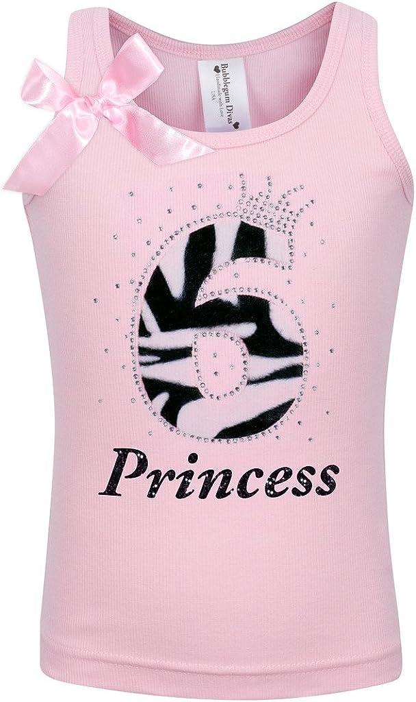 Bubblegum Divas Little Girls 6th Birthday Tutu Zebra Tank Top