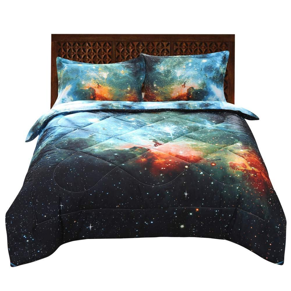 2 Pillowcases 1 Comforter Full, Basketball Fire Babycare Pro 3D Basketball fire Print Cotton Comforter Sets 3 Pieces