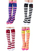 Kids School Uniform Knee High Socks Spring Argyle Knee Stockings