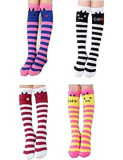 dc229b3a516 Girls Christmas Socks School Uniform Knee High Socks Cute Crazy Stockings