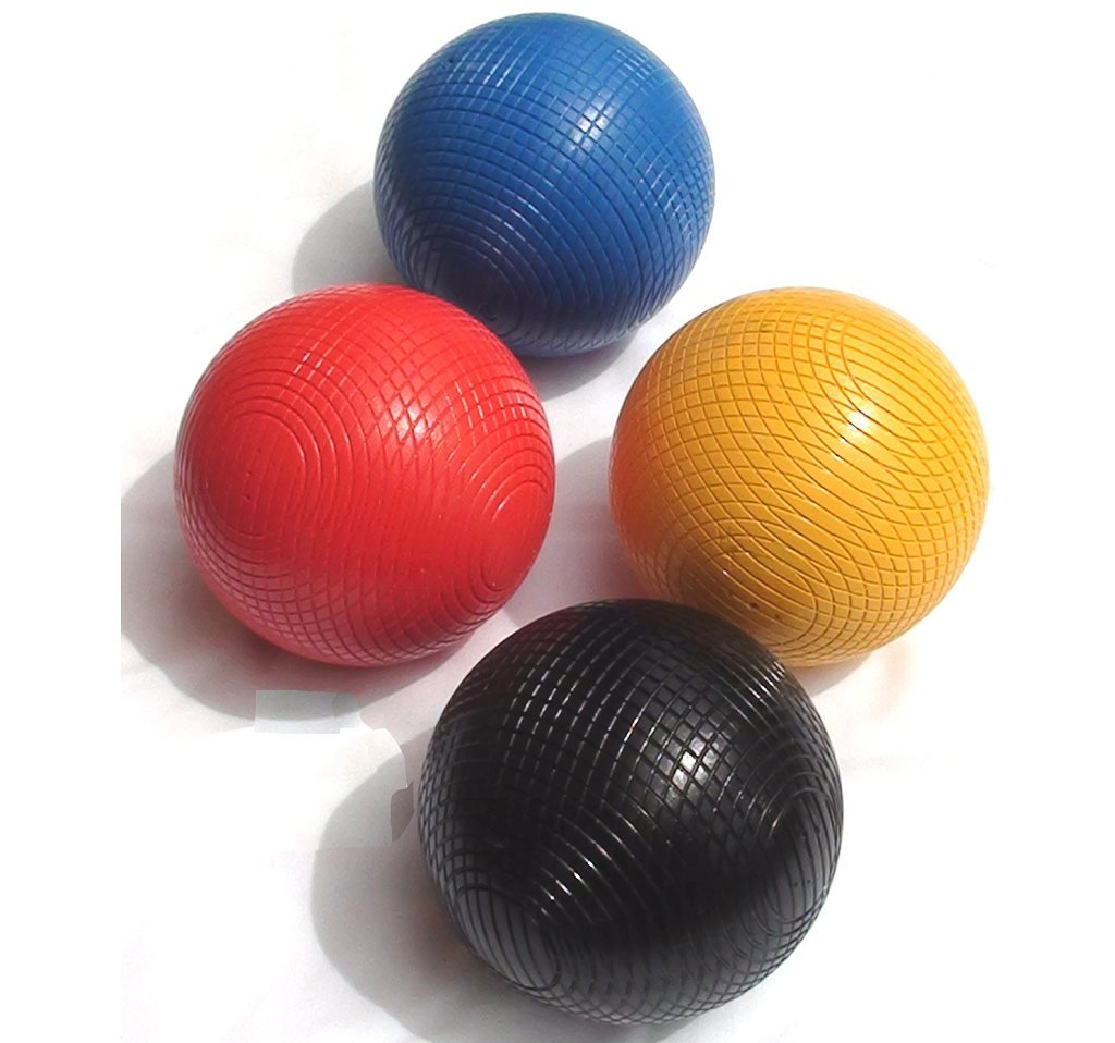 Set of 12oz Composition Croquet Balls (1st colors) by Garden Games