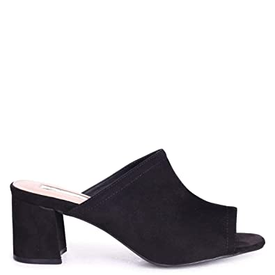5cd723e558116 Linzi Vanessa - Black Suede Open Toe Mule: Amazon.co.uk: Shoes & Bags
