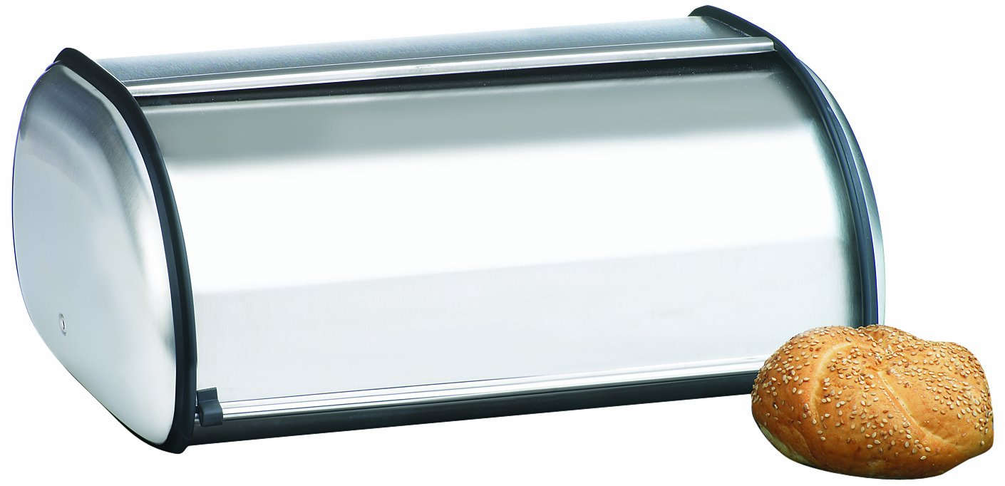 Anchor Hocking Euro Design Brushed Steel Bread Box 08994MR