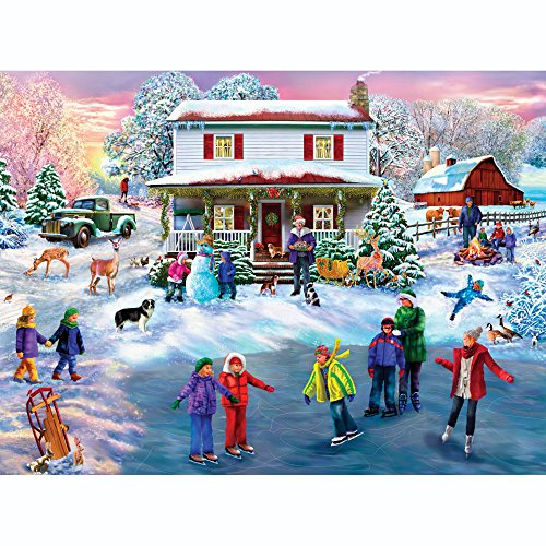 Bits and Pieces - 300 Piece Jigsaw Puzzle for Adults - Christmas Cocoa 300 - 300 pc Jigsaw by Artist Mary Thompson
